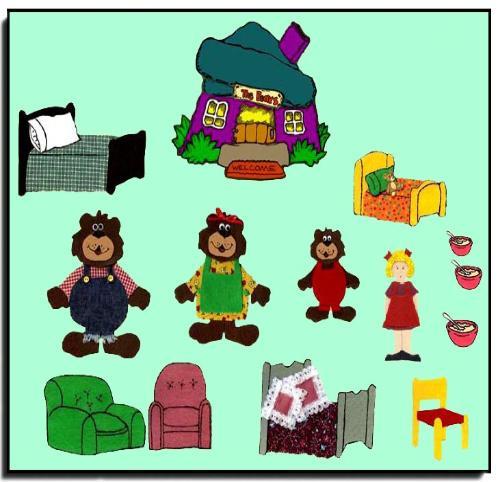 Board Printables goldilocks and the three bears storytelling felt set ...