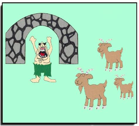 image relating to Three Billy Goats Gruff Story Printable identified as A few Billy Goats Gruff Storytelling Felt Fastened